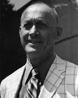 University of Oregon track coach Bill Bowerman taken during the 1970s or 1980s