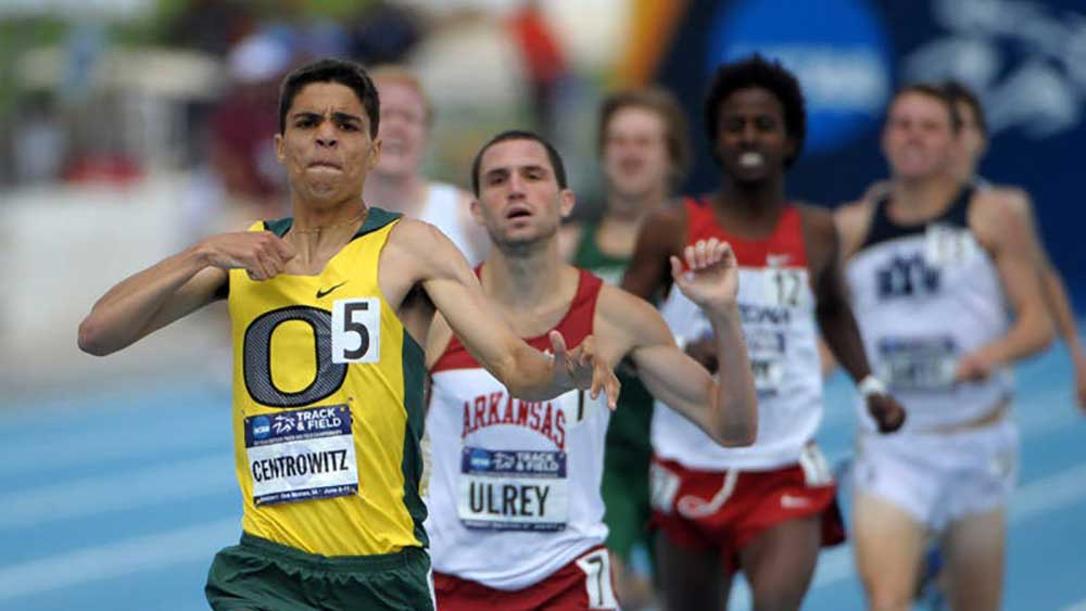 Matthew Centrowitz Jr. winning the 1,500 meters at the 2011 NCAA Championships