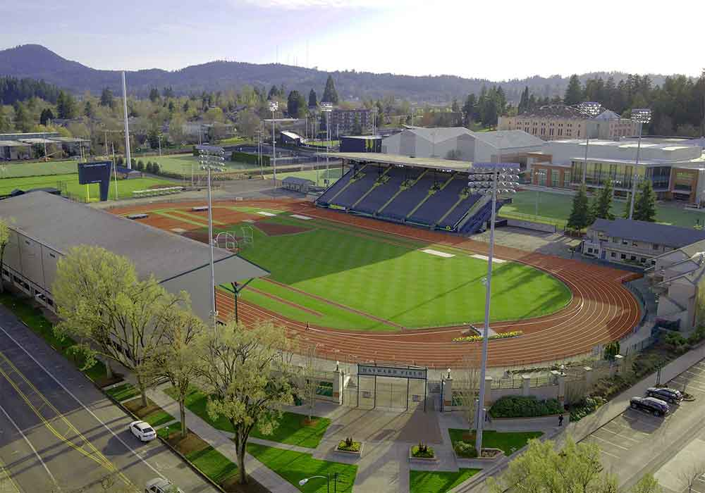 Aerial view of Hayward Field