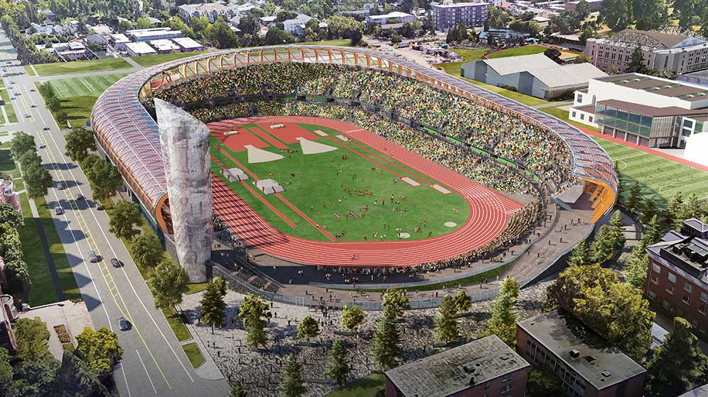 Rendering of Hayward Field