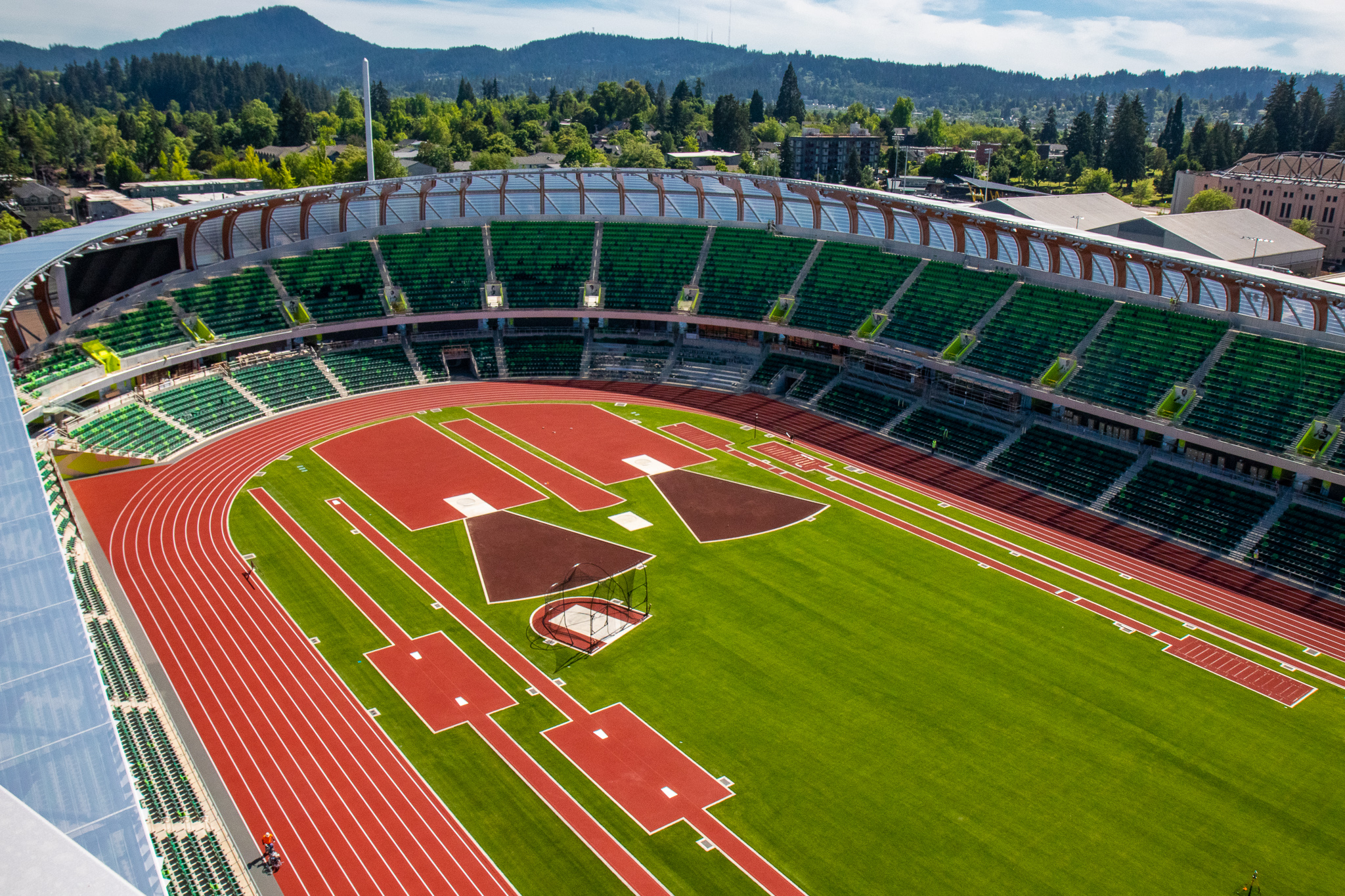 Hayward Field striping
