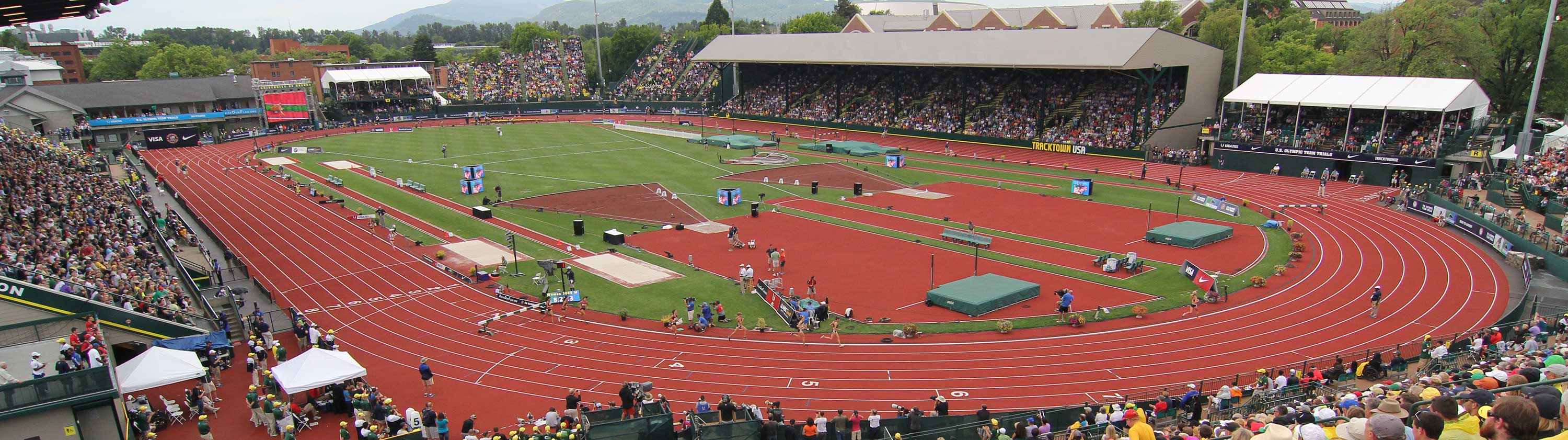 Panorama of Hayward Field during the 2016 US Olympic Trials
